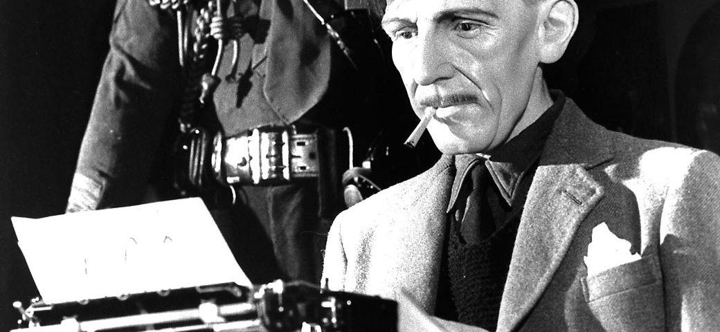 George Orwell writing.